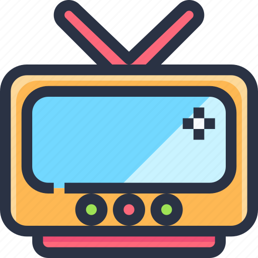 device, entertainment, technology, television, tv icon