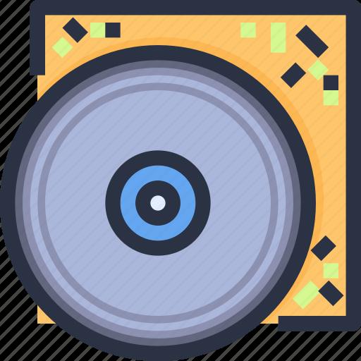 cd, entertainment, party, platter, pub icon