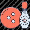 ball, bowling, bowling ball, sport, strikes icon