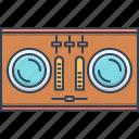 dj, dj remote, electronic, remote, soundboard, turntable icon