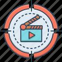 cinema, cinematography, clapboard, film, movie, video icon