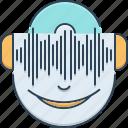 concert, headphones, listen, music icon