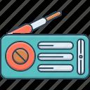 frequency, music, radio, reportage, vintage, vintage radio icon