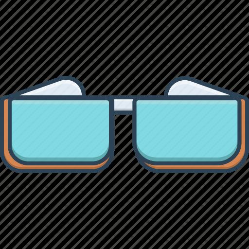 accessory, cinema, glasses, three, three d glasses icon