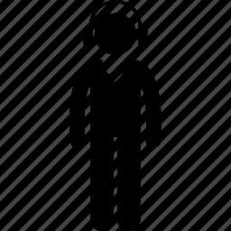 headset, listening, male, man, v-neck shirt icon