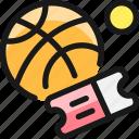 ticket, basketball, game
