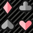 card, game, symbols