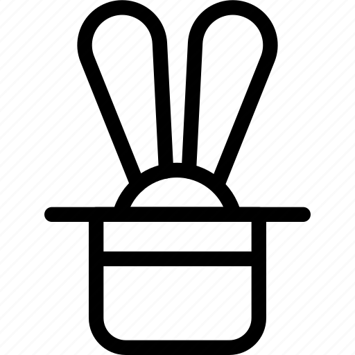 hat, rabbit, show icon