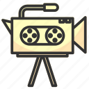 camera, film, media, movie, multimedia, record, video icon
