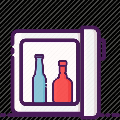 drink, fresh, furniture, home, interior, minibar, water icon