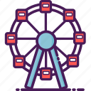 carnival, ferris, fest, move, park, top, wheel icon