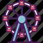 carnival, ferris, fest, move, park, top, wheel icon