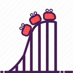 carnival, coaster, garden, park, rides, roller, themepark icon