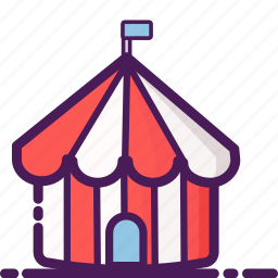 camp, carnival, circus, festival, outdoor, park, performer icon