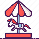 amusement, carousel, children, gaming, merry go round, riding, roundabout icon
