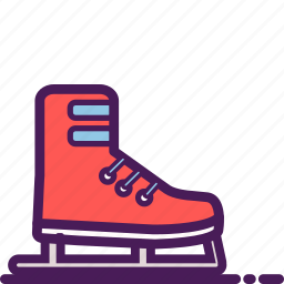 arena, frozen, ice, skating, snowflake, winter icon