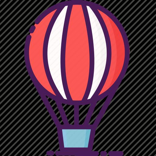 air, balloon, clouds, hot, sky, sun, temperature icon