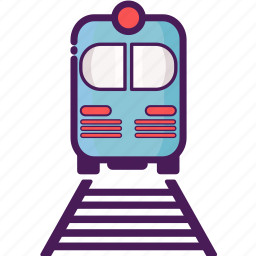 railroad, train, transportation, travel, vacation, vehicle icon