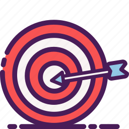 arrow, dart, dartboard, gaming icon