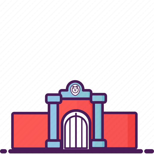 building, construction, gate, landmark, zoo icon