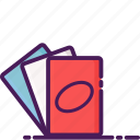 cards, casino, gambling, playing, uno icon