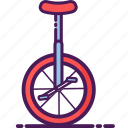 carnival, circus, cycling, festival, unicyle icon