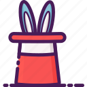 bunny, hat, magic, performer, rabbit, show, wand icon