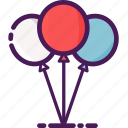balloons, birthday, celebration, decoration, party icon
