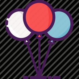 balloons, birthday, celebration, decoration, party icon