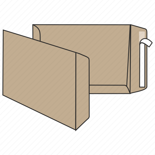 craft, document, envelope, file, mail, peel and seal, post icon