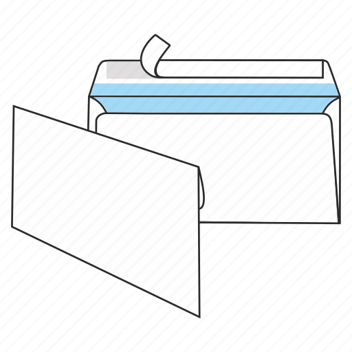 communication, document, envelope, mail, peel and seal, post, send icon