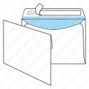communication, envelope, mail, peel and seal, post, send, sobrescrito icon