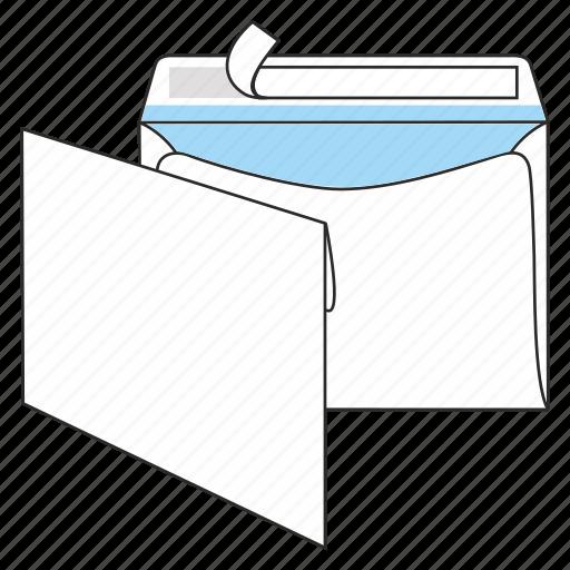 communication, envelope, mail, peel and seal, post, send, sobrescrito icon