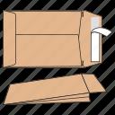 craft, document, envelope, file, large, pocket, post icon