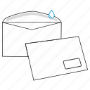 commercial, envelope, gummed, mail, post, send, window icon