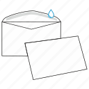 commercial, communication, envelope, gummed, mail, post, send icon