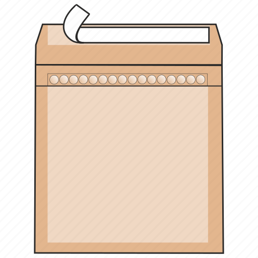 craft, data, envelope, mail, peel and seal, post, protection icon