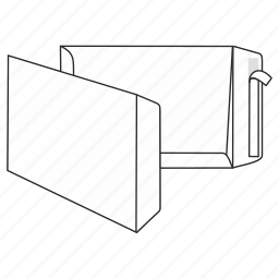 document, envelope, file, large, mail, peel and seal, post icon