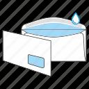 envelope, gummed, mail, mailoffice, post, send, window icon