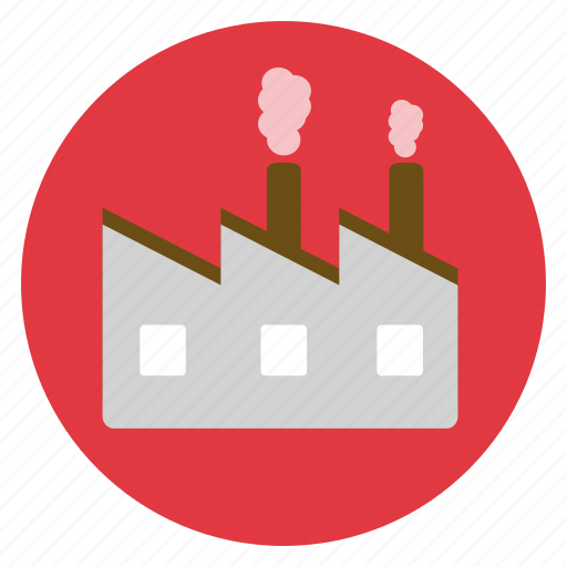 eco, ecology, environment, factory, pollution icon