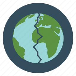 destruction, earth, eco, ecology, environment, planet, pollution icon