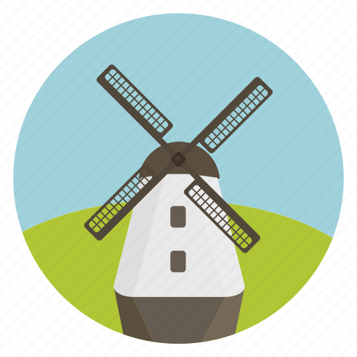 ecology, grinder, mill, mill work, windmill icon