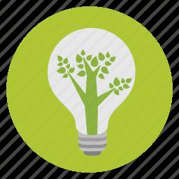 bulb, eco, environment, green, lamp, light, light bulb icon