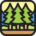 adventure, environment, geographic, jungle, nature icon