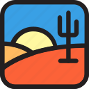cactus, desert, egypt, environment, geographic, nature icon
