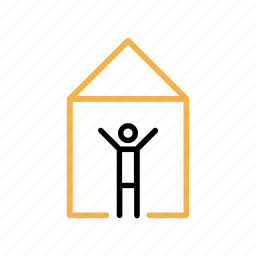 ceiling, dwelling, house, living place, room icon