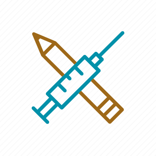 education, health, pen, public services, syringe icon