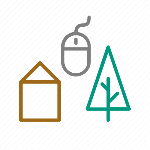 digital nomad, graphic design, nature, rural, technology icon