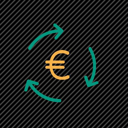 euro, local business, local economy, money icon