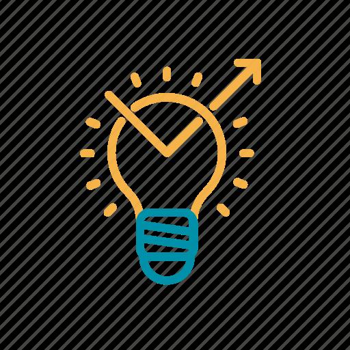 bulb, entrepreneurship, idea, innovation, progress icon